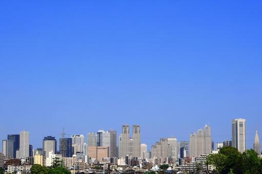 Blue sky in Shinjuku