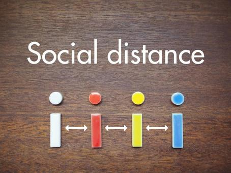 Social distance tile background material tile art social distance
