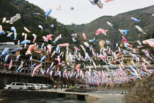 杖立 온천 잉어 축제