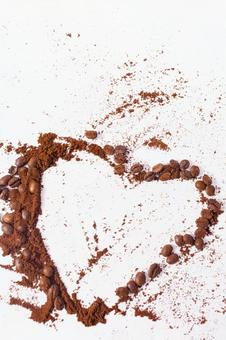 A heart drawn with coffee