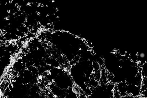 Splash black background material