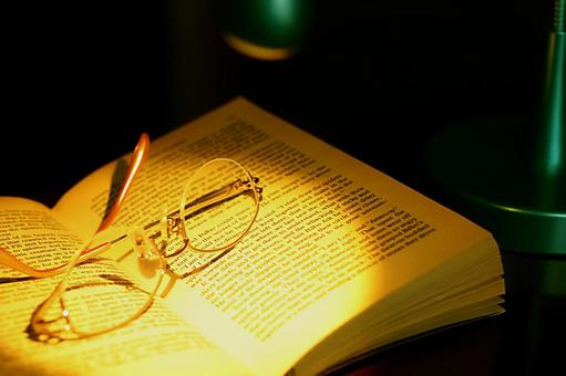 Light and book