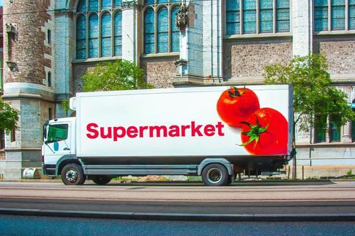 Supermarket delivery vehicle (image)