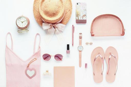 Summer pink accessories