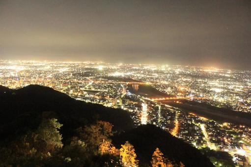 Night view of Gifu city seen from Gifu Castle (Gifu Prefecture)