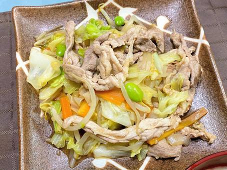고기 야채 볶음