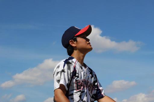 Male person sky baseball sports