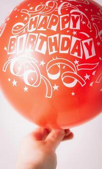 Bloated birthday balloon 2