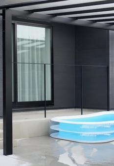 Newly built single-family home pool