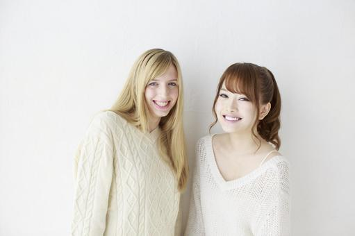 Female friend Foreigner and Japanese 29