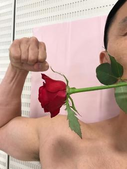Men with roses
