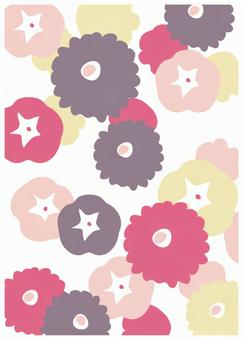 Scandinavian Design Flower Pink