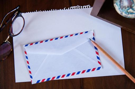 Air mail and table