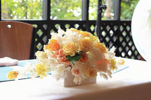 Preserved Flower Restaurant Wedding Takasago Seating Wedding