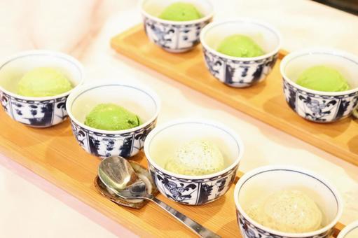 Five-tiered green tea ice cream ⑧