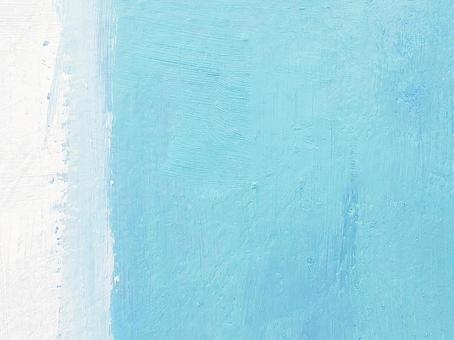 Oil on abstract texture Turquoise blue [blue light blue white background material summer bright refreshing art]