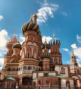 성 바실리 사원, 모스크바, 러시아.