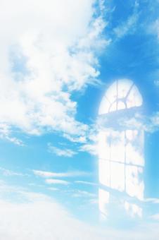 藍天和雲彩圖像