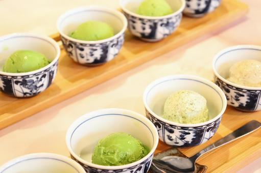 Five-tiered green tea ice cream ⑩