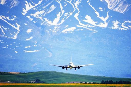 I fly ashikawa airport of majestic Daisetsuzan