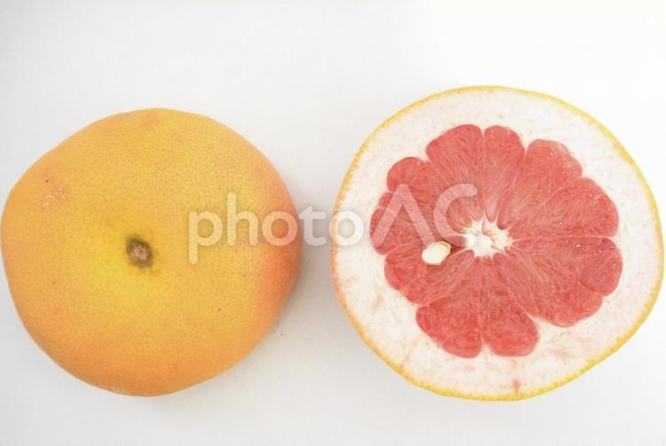 グレープフルーツ 断面の写真