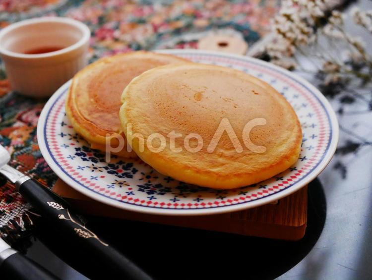 手作りパンケーキ 手作りホットケーキ やさしい暮らしの写真