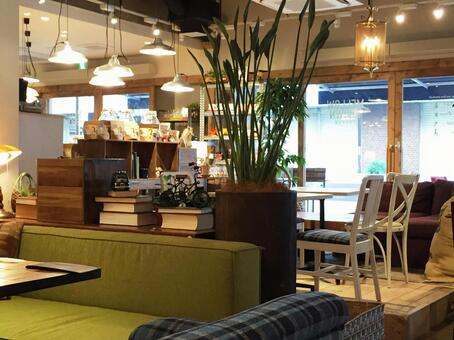Fashionable interior cafe
