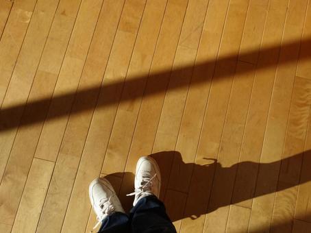 바닥과 운동화