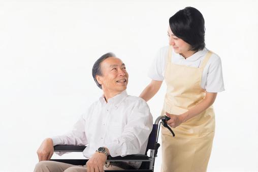 Men and nurses on a wheelchair 1