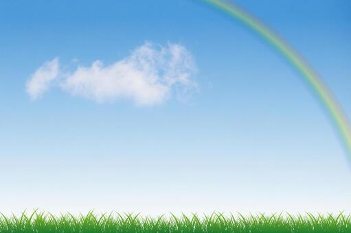 푸른 하늘과 초원 그리고 무지개 11