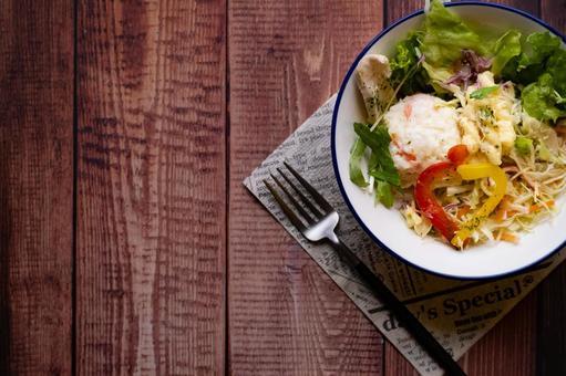 Green salad potato salad