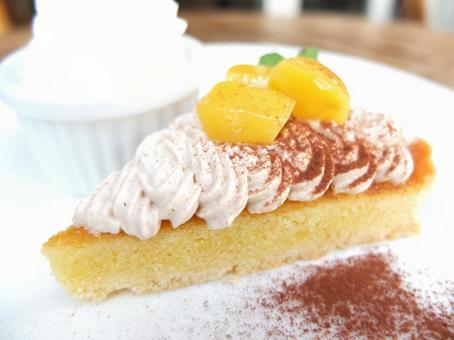 Marron cake chestnut and cream tart