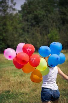 氣球和女子15