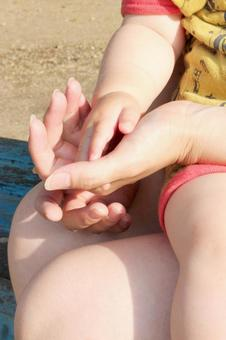 Mother and Child Hand