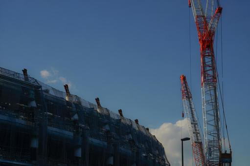 Construction site of the new National Stadium