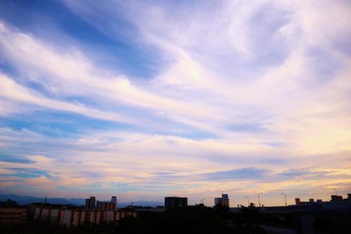 Sky blue sky sunset background light cloud autumn sky fantastic sky sky background sky image