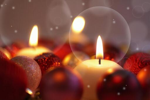 Candle lights and ornaments