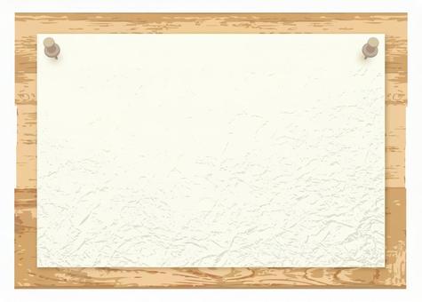 자연 목조 간판 간단한 백지 & 압정있는 세련된 게시판 안내판 알려 보드 무료 자료