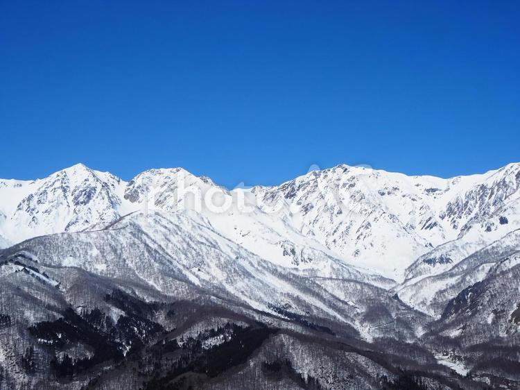冬の白馬三山の写真