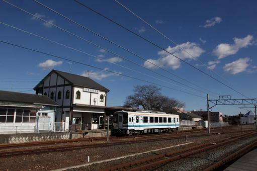 新所原车站站建设和Tenhama行车辆