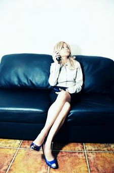 Foreign business woman on phone 20