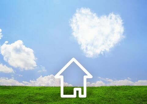 House and heart cloud