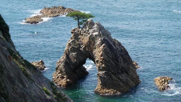 山陰海岸地質公園浦富海岸千吹松島1