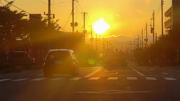 거리의 아침