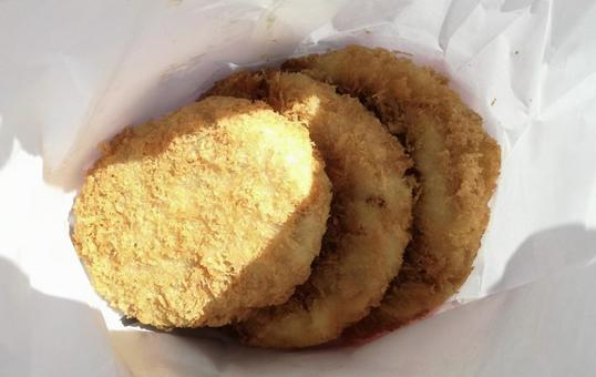 [음식] 가방에 들어간 튀김 멘치 카트 고로케