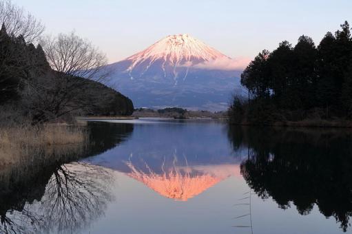Fuji at Lake Tanuki before sunset