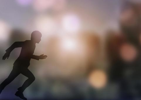 Running male silhouette