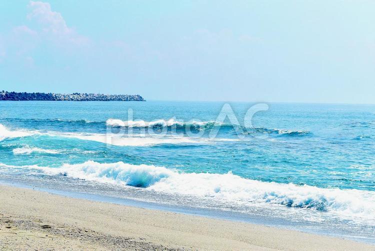 青い海の写真
