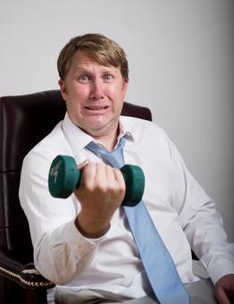 Dumbbell exercising foreigner salaried worker 9