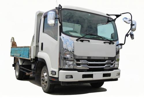 Small dump truck (PSD / cutout)
